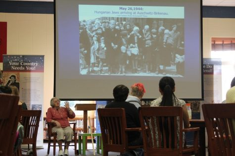 """""""Tell my story"""": Holocaust survivor touches 10th Magnet students in powerful lecture"""