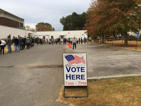 High school voters visit the polls for their first time