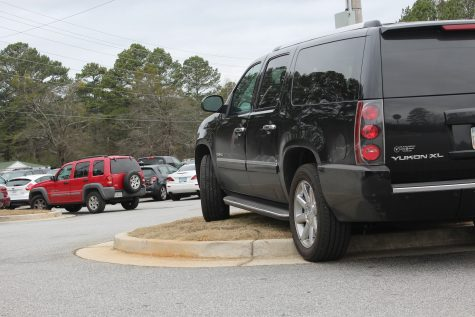 Construction causes traffic in NC parking lot