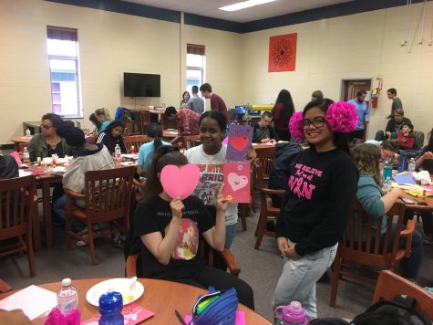 NHS members give back for Valentines Day