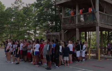 North Cobb Marching Band completes ALS Ice Bucket Challenge