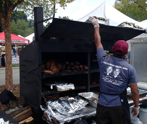 Like+most+of+the+barbeque+companies+at+the+festival%2C+the+famous+Williamson+Bros.+BBQ+grilled+on+site%2C+giving+their+meat+a+fresh+and+smoky+flavor.+