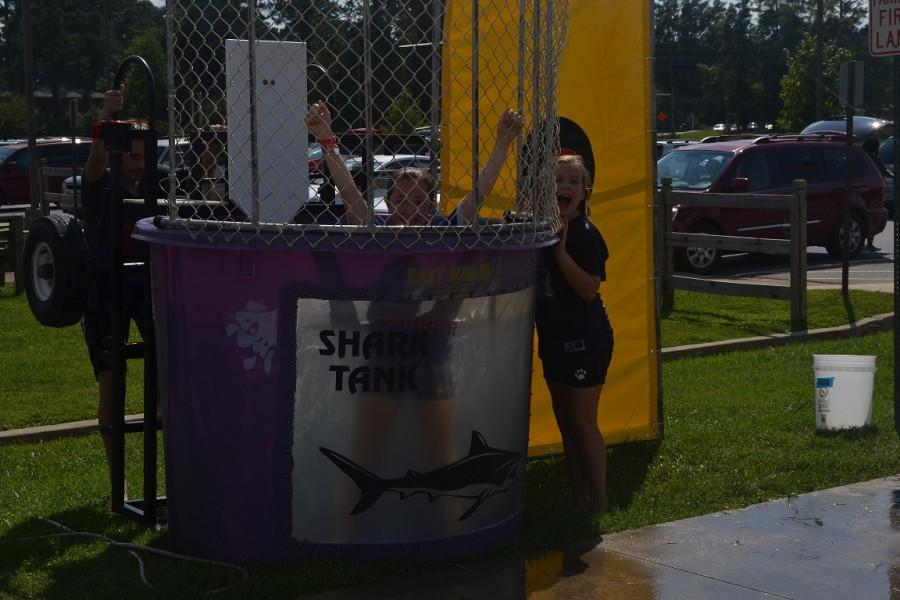 Children operated the dunk tank to raise money for the cause.