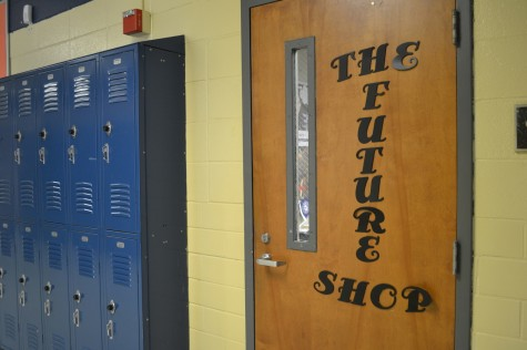 The Future Shop, in room 108. Students pass by the room every day without realizing what they're missing.