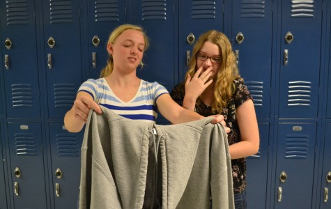 "Repulsed by Urban Outfitters product choices, junior Emmy Thompson and senior Sarah Mockalis are, scoff an offensive sweatshirt. ""Clothing like this is why I don't shop at Urban Outfitters."" remarked Mockalis."