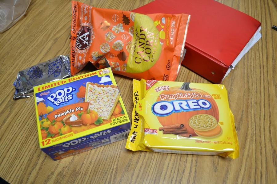 Since the beginning of fall, stores loaded their shelves with several pumpkin spice products as pumpkin spice is the flavor of the season. Pumpkin spice comes in many products such as the shown yogurt,  tray of oreos, and box of poptarts.