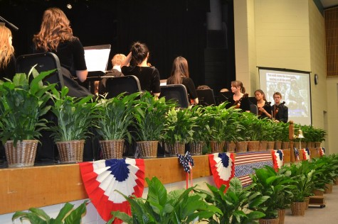 North Cobb's Chamber Orchestra performed three times at the program, performing Veteran-themed tunes.