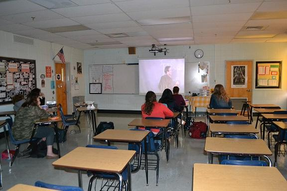 "Film Club's first meeting consisted of a showing of Dead Poets Society. ""Even though we didn't get as many as we had hoped, I'm still really glad that a good number of people showed up, especially considering the fact that there was a threat to the school,"" said club creator Kiky Etika."
