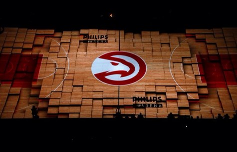 The brand new open for the Hawks which shows the newest feature of Philips Arena. The new feature is interactive with the court, and Philips is one of the only arenas in the countries to have it.