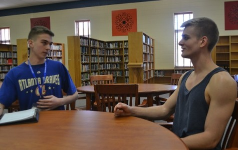 Senior reporter Cameron Hines interviews junior German exchange student, Jost Niemann. Niemann arrived at North Cobb this semester and plans to stay in America until June.
