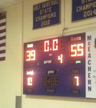 The final buzzer sounds as NC emerges victorious at the McEachern game.