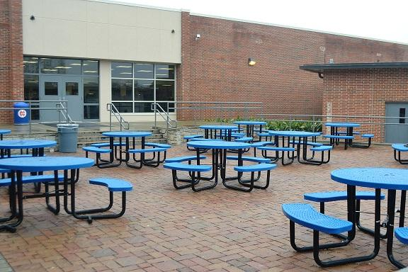 "With the mixture of cold and rain, North Cobb students opt out of sitting outside during lunch. ""It is so cold and it looks so gloomy; why would we want to hang out in that kind of environment?"" said senior Sean Pacheco."