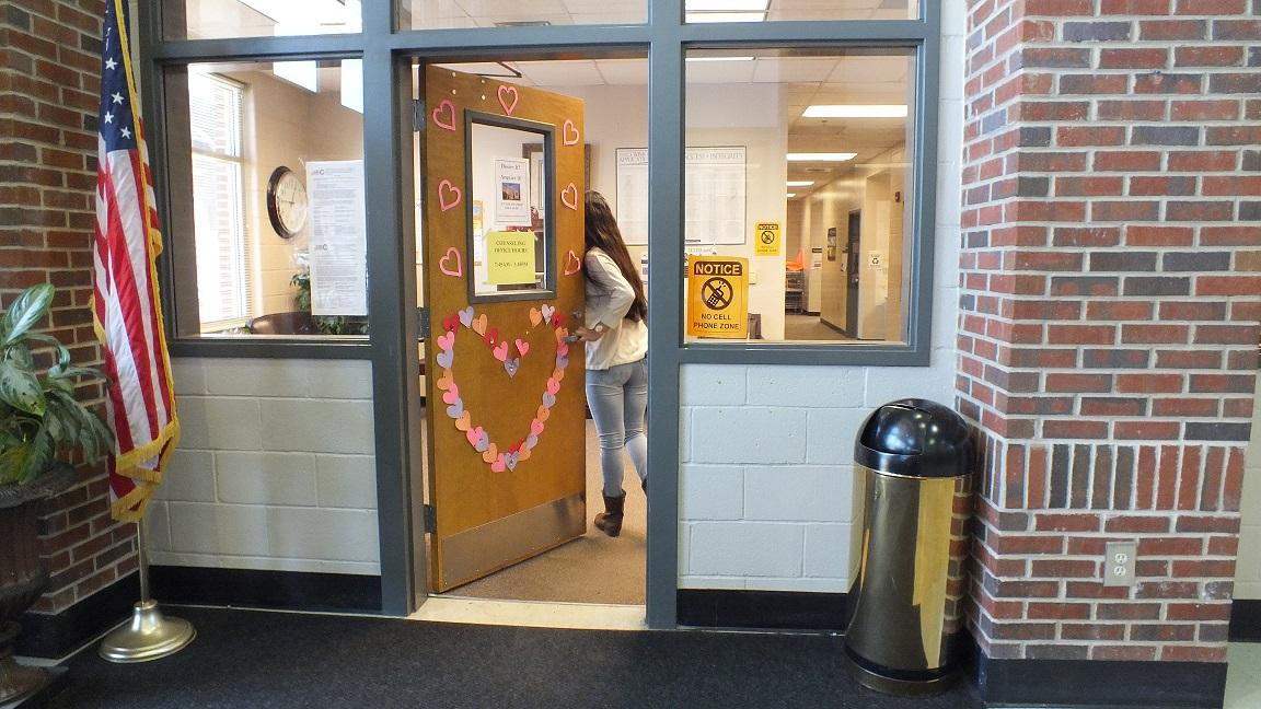 "Who needs a door to narnia, when there is a door to the guidance office's heart? ""We worked really hard on the door and are so happy with how it turned out,"" senior Amelia Seay said."