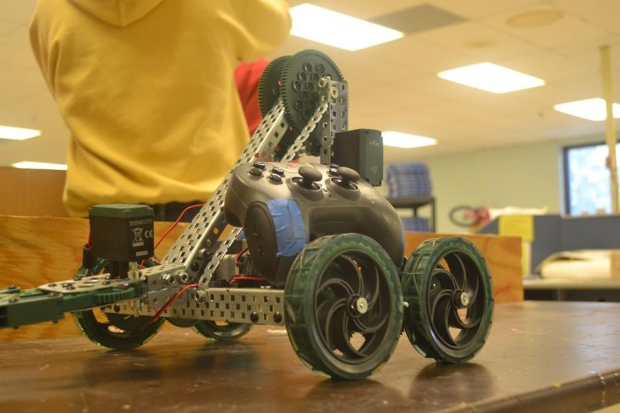 "North Cobb's ""prototype"" vex robot, Lucille,  will be competing in the Vex competition at TSA in March."