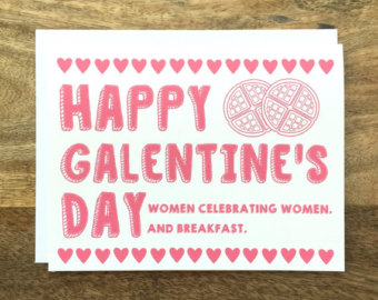 Get your Galentine's swag on sites like Etsy.com to send to your fellow celebrators.