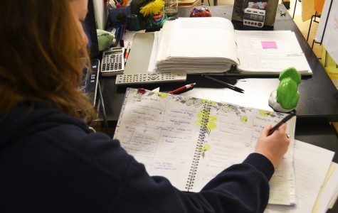 """After three days of snow, zoology teacher Ms. Adams struggles to rearrange her class schedule. She said, """"With the missed days this week and the two snow days from before, we have already missed a week out of the semester!"""""""