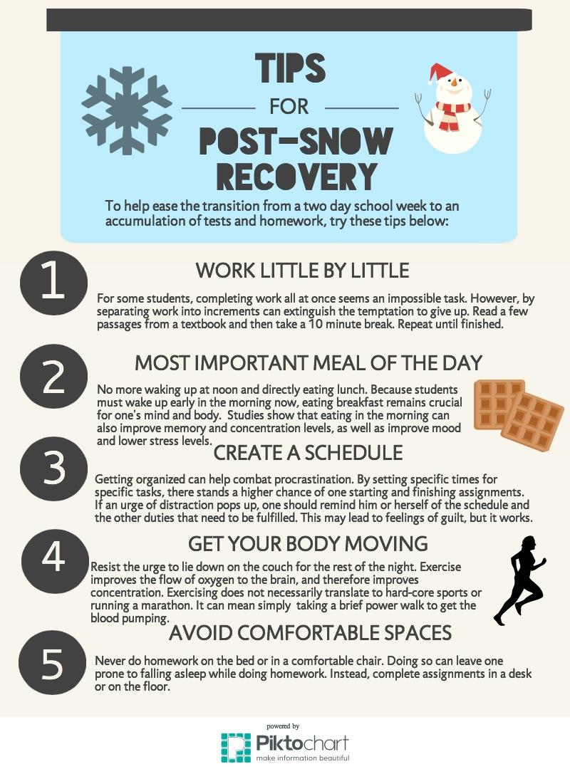 Sophia Mapua's tips and tricks should help recover that pre-snow day glory of academic success.