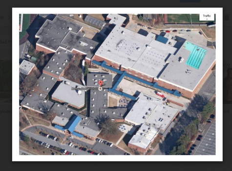 Google Maps finally revealed what North Cobb students have often suspected but never confirmed: the school pool on the roof.