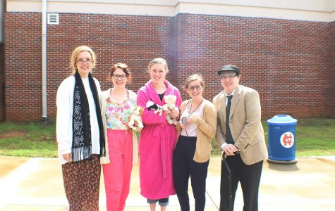 """Seniors celebrate the first day of Senior Week by dressing up as senior citizens. """"I am really excited and I'm ready to move on from high school"""" senior Savannah Gonzalez said."""