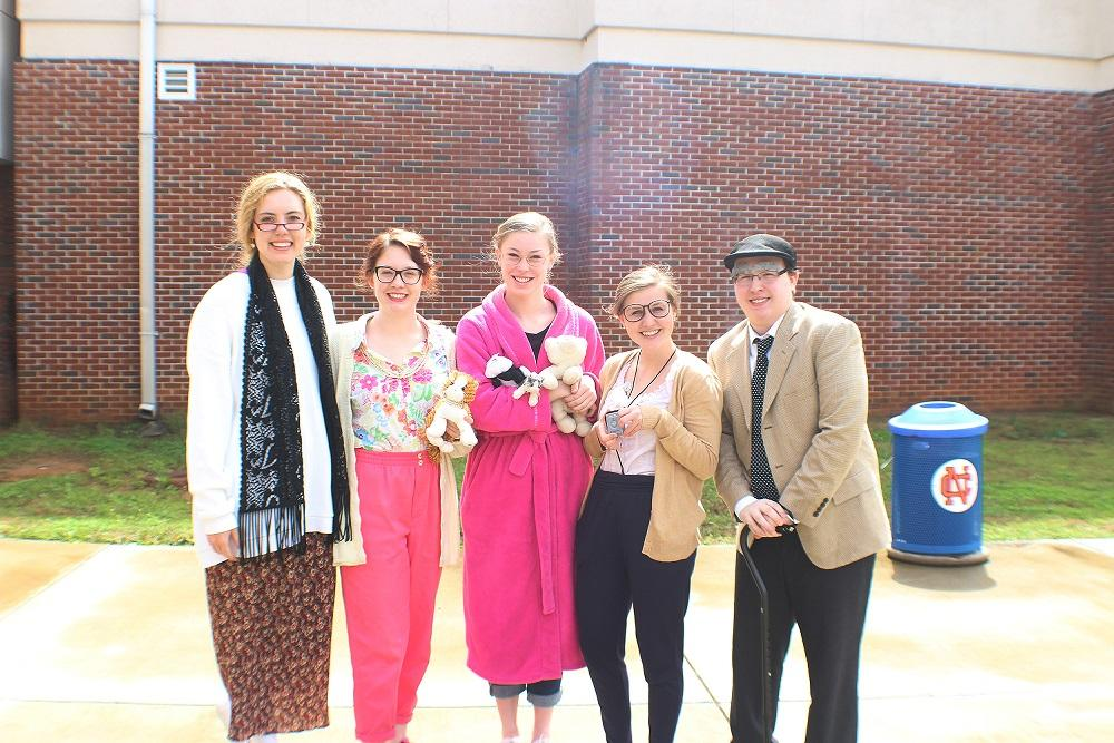 "Seniors celebrate the first day of Senior Week by dressing up as senior citizens. ""I am really excited and I'm ready to move on from high school"" senior Savannah Gonzalez said."