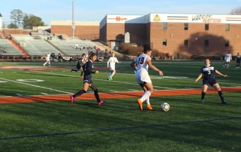Lady Warriors varsity soccer defeats Pebblebrook 6-0