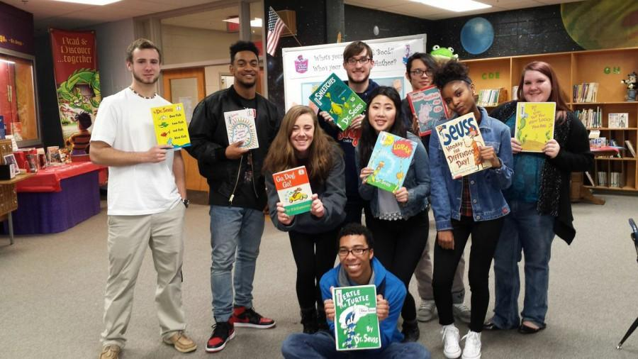 "A few NC students took time out of their school day to go and read books to children at three elementary schools. Here they are pictured at Big Shanty. ""I think that them reading to children is a great, selfless act that gives the children a chance to interact with high school students that are great role models for their future,"" said Sarah Sutley"