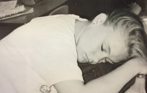 Even students in the 1994 had the urge to fall asleep in class.