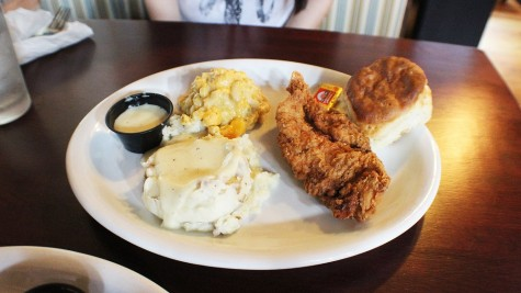 Nothing says southern cooking like fried chicken, mac and cheese, and mashed potatoes.
