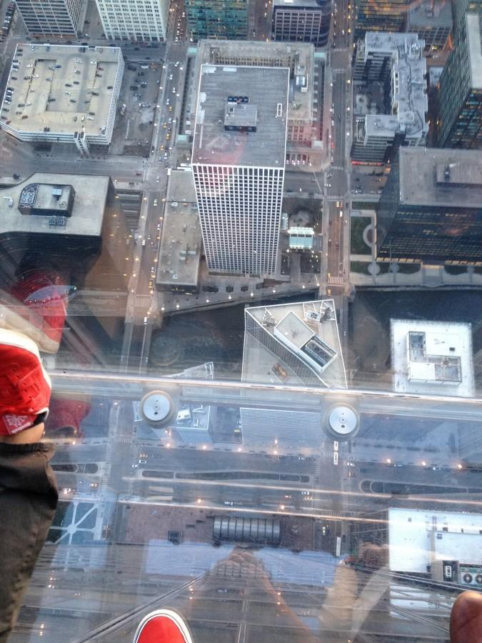 Students visited the SkyDeck building and received a rare aerial view of the city and its inhabitants.