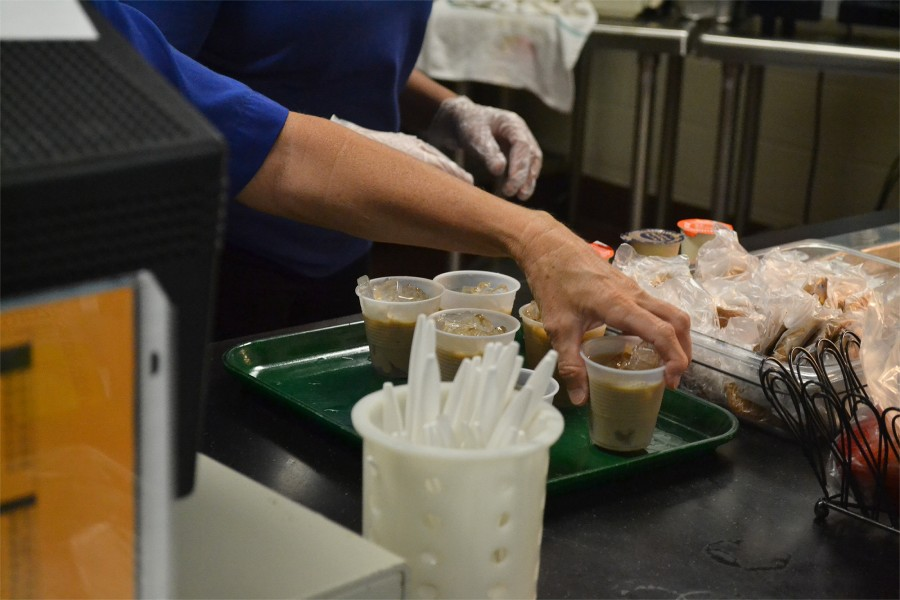 "The lunch program introduced new items today, iced coffee and iced tea.""The coffee was fantastic, but the sweetness was a little overwhelming,"" said sophomore Kat Shambaugh."