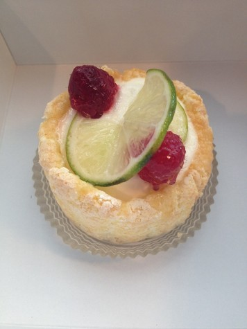 Despite its expensive price, this homemade raspberry and lime charlotte offered an authentic taste of France.