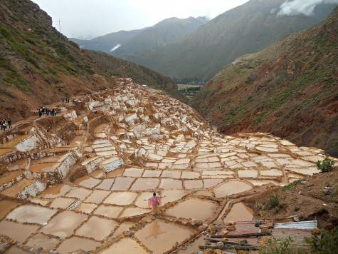 """Maras, Cusco rests as an archeological site known for salt flats and salt evaporation ponds, still in use since Inca times. """"I really enjoyed the salt flats because it was so extraordinary to see how these people used such advanced methods, with aqueducts and canals, to create something they needed and wanted,"""" said junior Nolan Hubbard."""