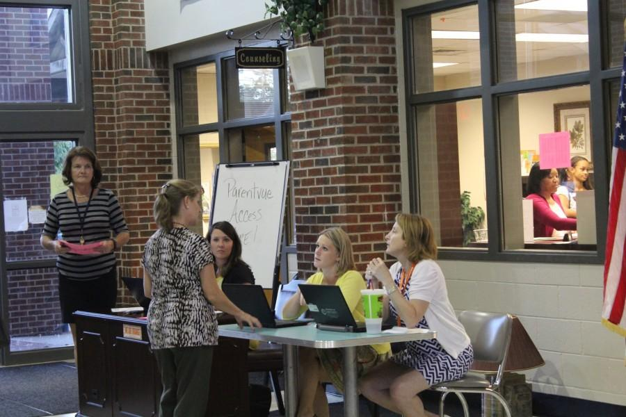 Counselors help out in answering any question of the student's parents about schedules. At the same time they show just how dedicated the school is to ensuring the flow of communication from school to home.