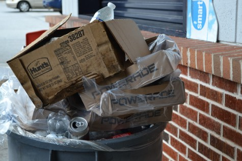 After the big game, the last thing on a concession volunteer's mind is emptying the trash. Unfortunately the overflowing cans will continue to pile up until the next Friday game.