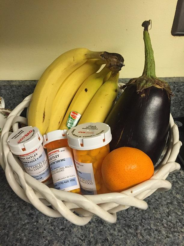 My+prescriptions+in+a+fruit+basket%2C+juxtaposing+modern+medicine+and+a+natural+remedy.