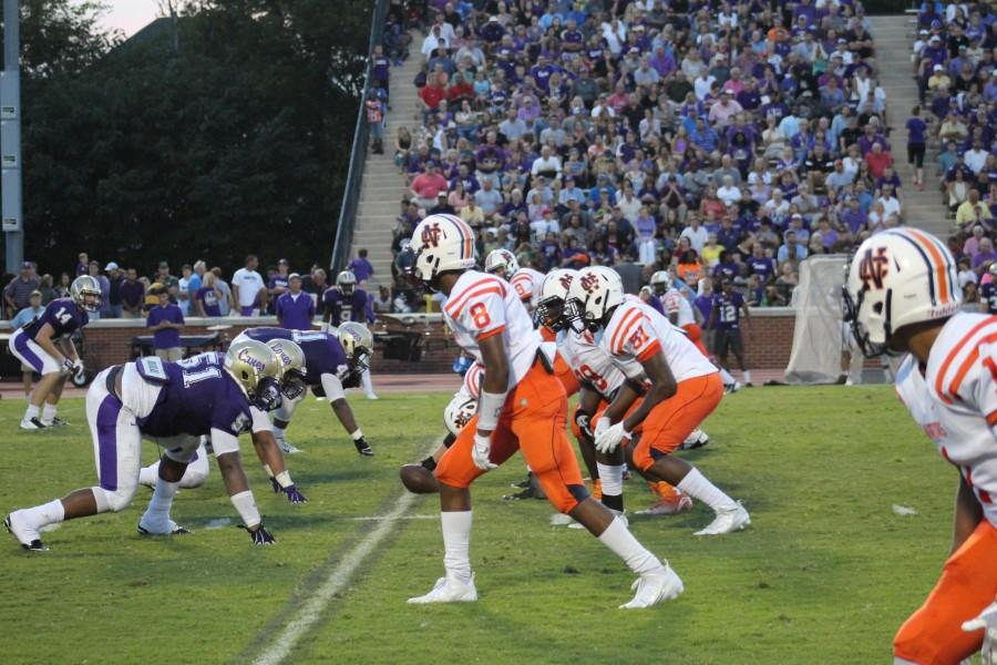 NC's varsity football team faced off against the Cartersville High School Hurricanes last Friday night.