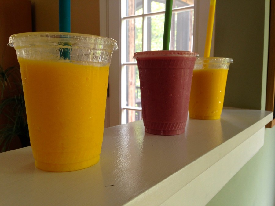 In order, the Kosmic Mango, the Daydreamer, and my own creation. Each smoothie brought its own pros and cons to the table, but overall, I was not significantly impressed.