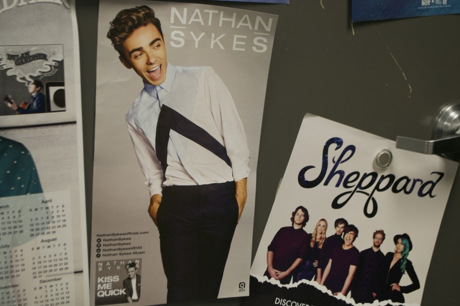Nathan Sykes strikes a classic teen pop star pose that will surely attract many listeners and fans.