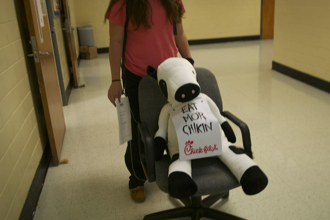 The North Cobb High School softball team uses the Chick-Fil-A Cowdrop as a fundraiser for their sport.