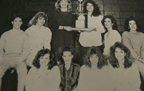 NC Drama Club proudly displays their first place trophy from One Act Competition in 1987. On Saturday, the 2015 drama team will compete again in One Act, hoping to win the first place trophy.