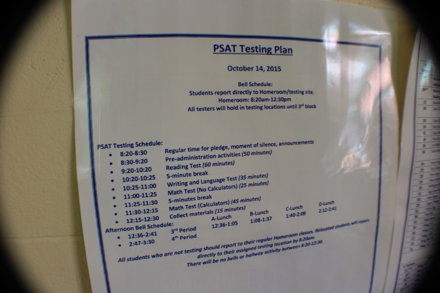A number of NC freshmen, sophomores, and juniors will take the redesigned PSAT on Wednesday, October 14. The College Board announced a modified scoring, format, and content would appear on the SAT in 2016, with a preview of the modifications on the 2015 PSAT.  The PSAT also qualifies participants with top tier scores for the National Merit Scholarship, which provides a full ride to any college in the United States.