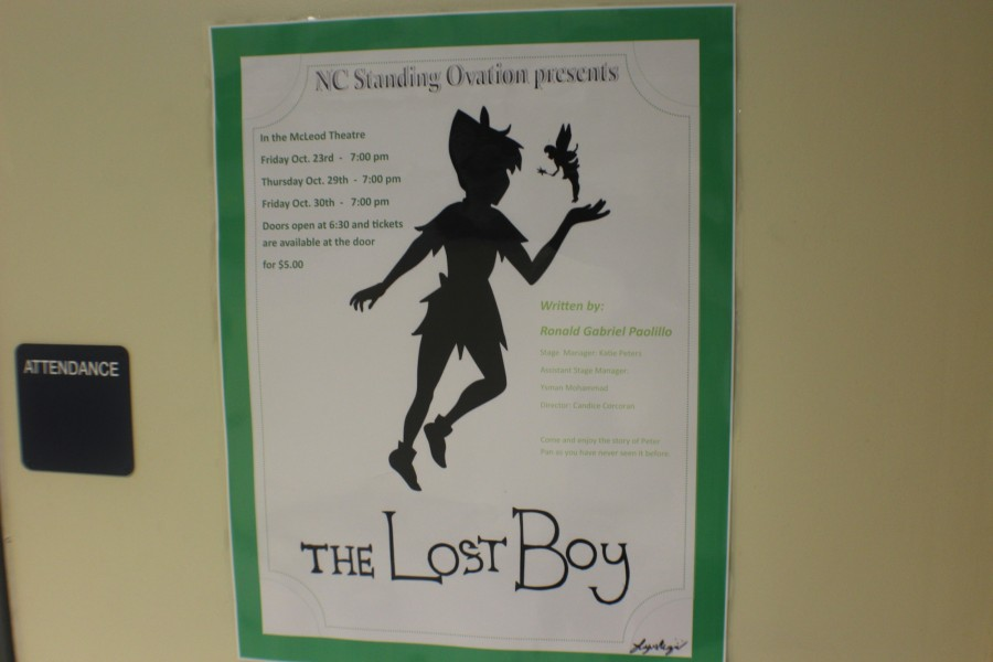 NC's theater group, Standing Ovation, has begun performing its rendition of Peter Pan: The Lost Boy. The first presentation of the play occurred last Friday, October 23. This week, performances will happen on Thursday and Friday, the 29 and 30 respectively. Both showings begin at 7:00PM and costs five dollars to enter.