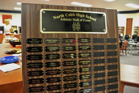 The Athletic Hall of Fame has been a NC tradition for ten years. It recognizes North Cobb alumni with exceptional athletic abilities.