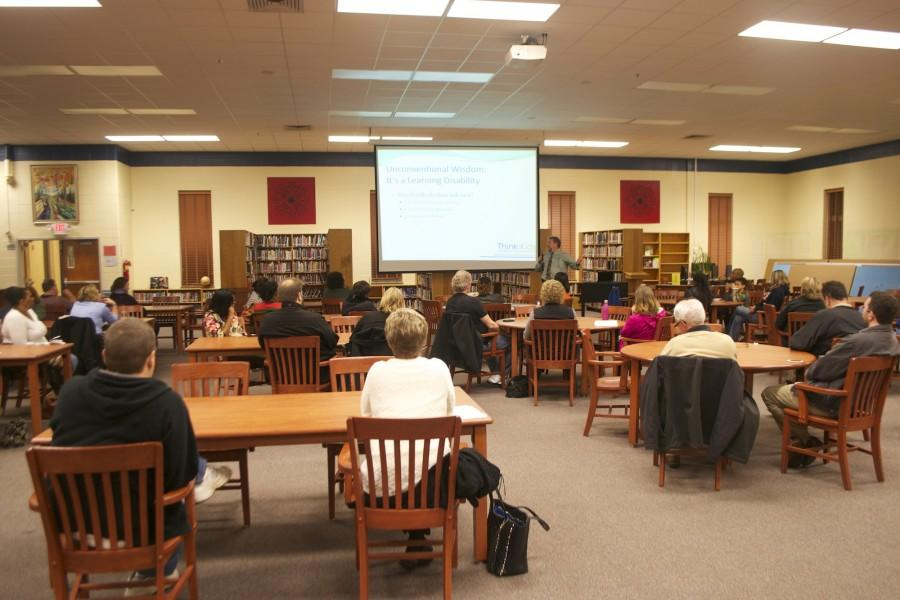 Dr. Les Cole talked to parents about how to communicate with their children. He provided examples from his own life and connected it with the lives of parents attending the meeting. He addressed certain communication barriers and took questions from the attendees.