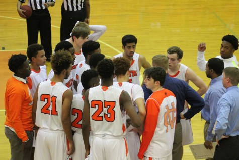 After being shut out in the first quarter, Coach Terry Gorsich huddled his team together and settle down their first-game jitters.