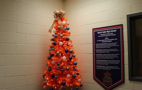NC Christmas tree brightens office