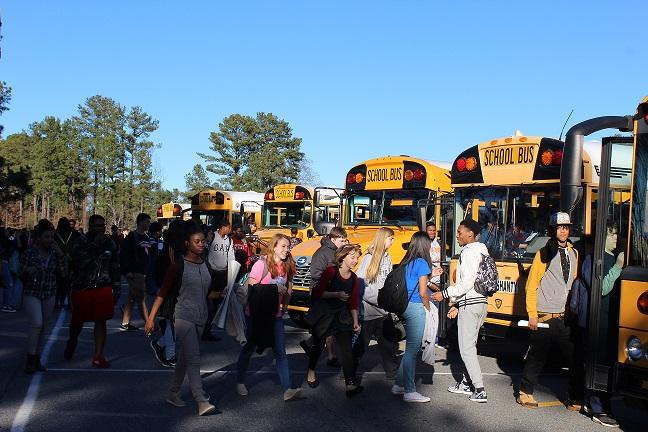 Students race to their buses at the end of the day on a Friday, often forgetting to say hello or thank you to the people who drive them to school each day and back home each afternoon.