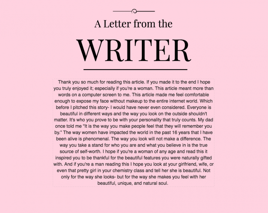 a letter from the writer