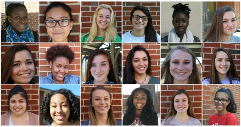 "Women feel pressure to wear makeup daily to project an image of perceived ""beauty standards."" From left to right: (Row 1) junior Ronisha Jean, sophomore Sandy Dang, sophomore Kaylin Altman, junior Rachel Real, senior Gabrielle Walker, junior Arianna Freedman; (Row 2) junior Savannah Hernandez, junior Renita Blow, junior Lillie Stitely, junior Alejandra Ponce, senior Melissa Hines, freshman Sarah Simcox; (Row 3) junior Jocelyn Esquivel, junior Reagan Black, sophomore Sam Johnson, junior Jasmine Talhouk, sophomore Olivia Lord, junior Alex Ramos."