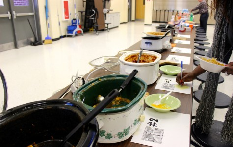 Teachers around the school were invited to participate in the second annual chili cook-off.
